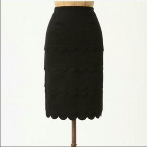 Maeve// Scalloped Pencil Skirt